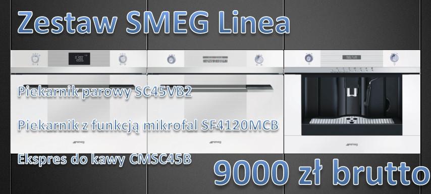 Zestaw białych urządzeń SMEG